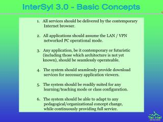 InterSyl 3.0 - Basic Concepts