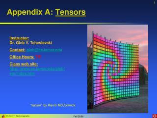 Appendix A: Tensors