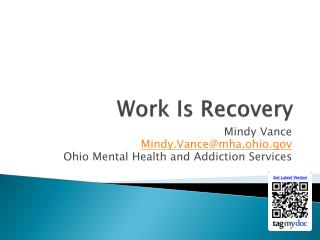 Work Is Recovery