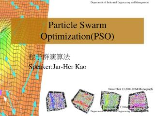 Particle Swarm Optimization(PSO)