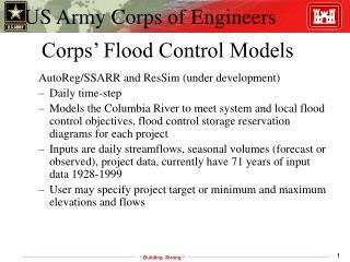 Corps' Flood Control Models
