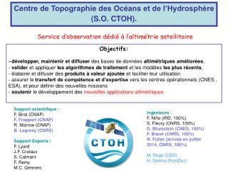 Centre de Topographie des Océans et de l'Hydrosphère (S.O. CTOH).