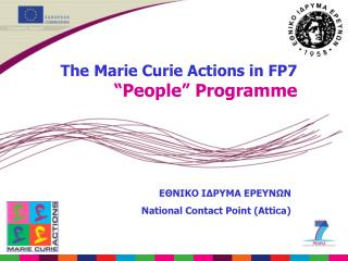 "The Marie Curie Actions in FP7 ""People"" Programme"