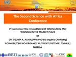 The Second Science with Africa Conference