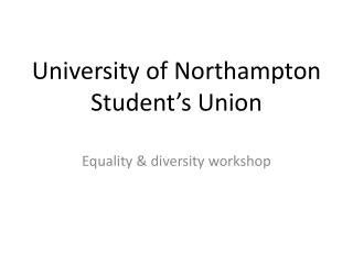 University of Northampton Student's Union