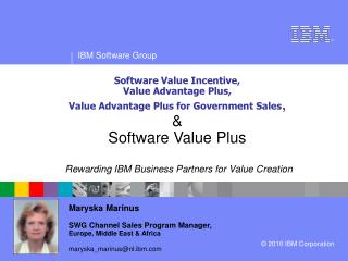 Rewarding IBM Business Partners for Value Creation