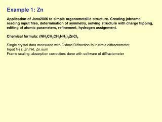 Example 1: Zn