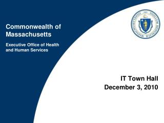 IT Town Hall December 3, 2010