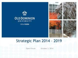 Strategic Plan 2014 � 2019