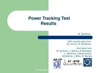 Power Tracking Test Results