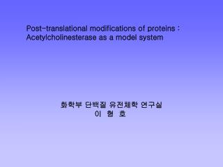 Post-translational modifications of proteins :  Acetylcholinesterase as a model system