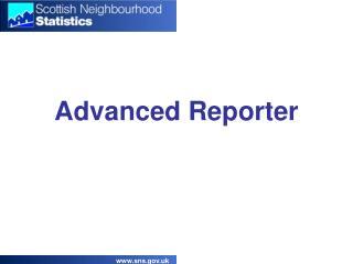 Advanced Reporter