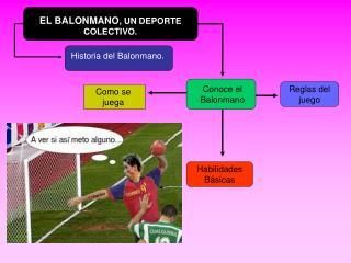 EL BALONMANO , UN DEPORTE COLECTIVO.