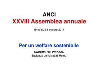ANCI XXVIII Assemblea annuale Brindisi, 5-8 ottobre 2011