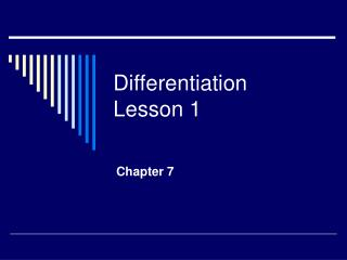 Differentiation Lesson 1