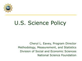 U.S. Science Policy