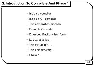2. Introduction To Compilers And Phase 1