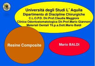 Università degli Studi L ' Aquila Dipartimento di Discipline Chirurgiche