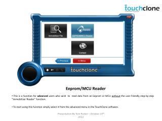 Eeprom/MCU Reader