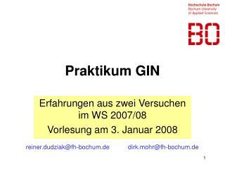 Praktikum GIN
