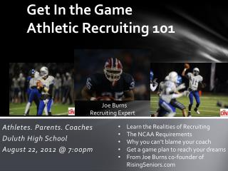 Get In the Game Athletic Recruiting 101