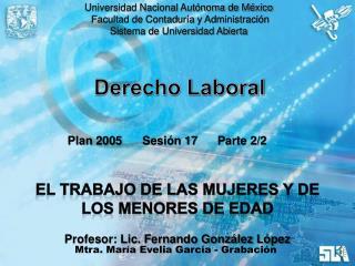 Universidad Nacional Autónoma de México  Facultad de Contaduría y Administración