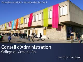 Conseil  d'Administration Collège du Grau-du-Roi