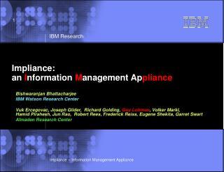 Impliance:  an Information Management Appliance