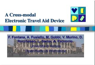 A Cross-modal  Electronic Travel Aid Device