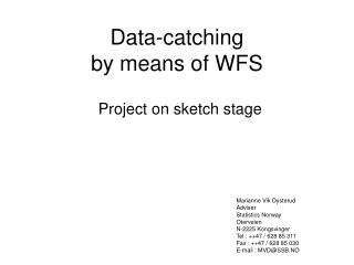 Data - catching   by means of WFS