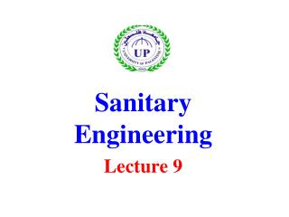 Sanitary Engineering Lecture 9