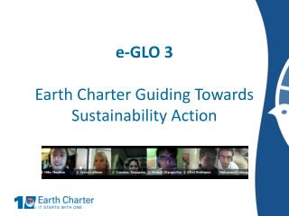 e-GLO 3 Earth Charter Guiding Towards Sustainability Action
