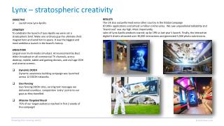 Lynx – stratospheric creativity