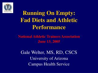 Running On Empty: Fad Diets and Athletic Performance