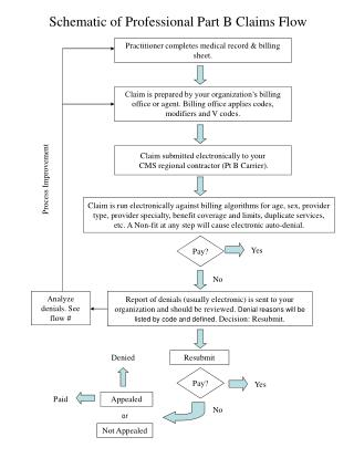Schematic of Professional Part B Claims Flow