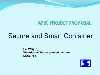 APEC PROJECT PROPOSAL