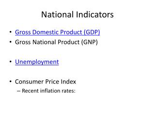 National Indicators