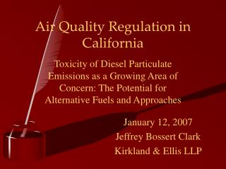 Air Quality Regulation in California