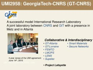 UMI2958: GeorgiaTech-CNRS (GT-CNRS)
