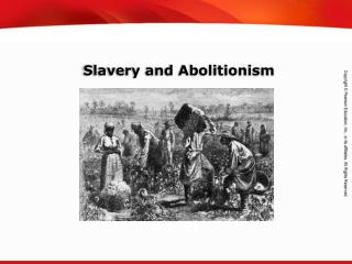 Slavery and Abolitionism