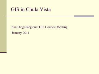 GIS in Chula Vista