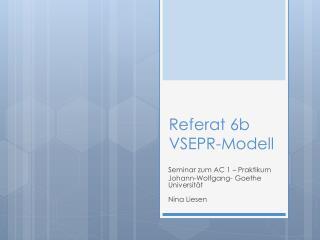 Referat 6b VSEPR-Modell