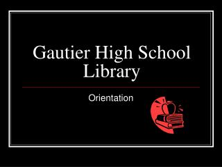 Gautier High School Library