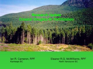 Research Update Coastal Douglas-fir Fertilization