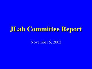 JLab Committee Report