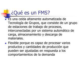 ¿Qué es un FMS?