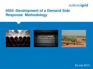 0504 - Development of a Demand Side Response  Methodology