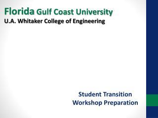 Student Transition Workshop Preparation