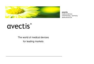 The world of medical devices  for leading markets