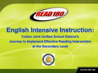 English Intensive Instruction:  Colton Joint Unified School District's